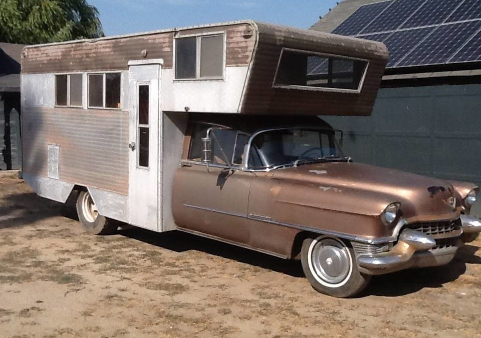 """1955 Cadillac Custom Camper """"Caddyshack"""" w/ Commercial Chassis"""